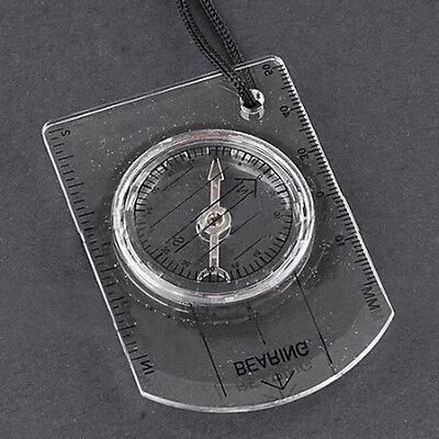 Mini Compass Army Hiking Camping Outdoor Boating Map Reading Orienteering TK