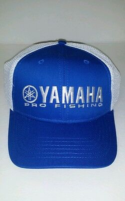 New Genuine Yamaha Hat with Cool Mesh White with Blue, White Lettering