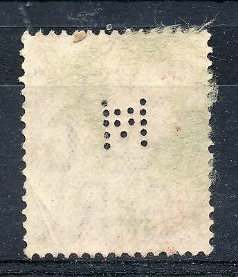 GB = Commercial PERFIN `M`. Good/Fine Used G5 Three Half Pence
