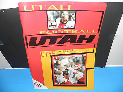 Ncaa Utah Utes Vs.byu Cougars 11/23/1996 Football Program