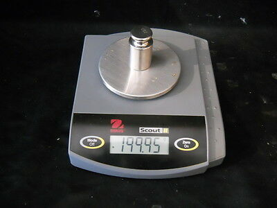 OHAUS Scout II Balance Scale 200g Max Item No. SC2020