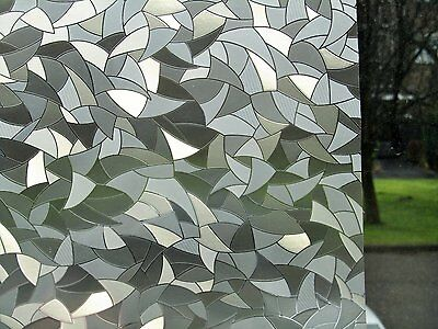 3D Crystals, Etched Glass Frosted Decorative Static Vinyl Privacy Window Film