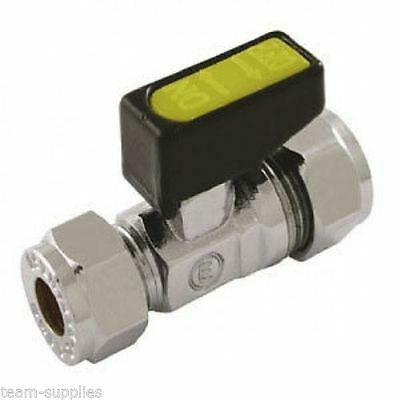 GAS MINI LEVER BALL VALVE 10mm APPROVED ISOLATING VALVE