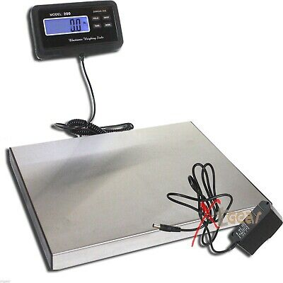 440lbs LCD AC Digital Floor Bench Scale Postal Platform Shipping/Pet 200Kg