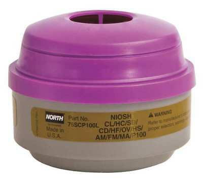 NORTH BY HONEYWELL 75SCP100L Respirator Cartridge, Olive/Mag, PR