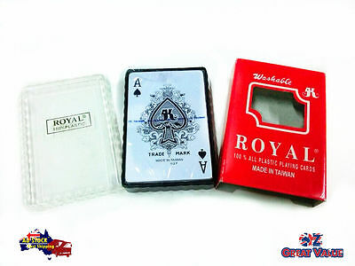 1 Deck Poker Playing Card 100% Plastic Washable 52 Playing Cards 2 Jokers 019