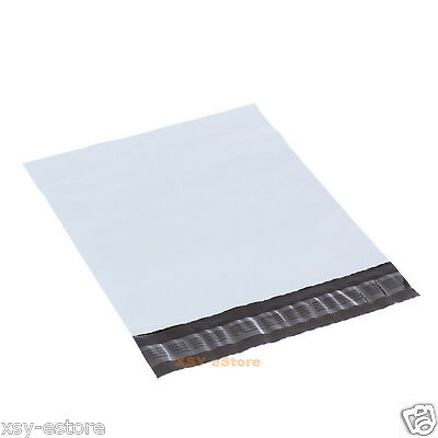"""15 White Poly Mailers Plastic Envelopes Mailing Bags 4.3"""" x 7""""_110 x 180+45mm"""
