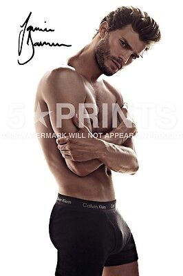 "FIFTY SHADES OF GREY JAMIE DORNAN POSTER PHOTO 12x8"" SIGNED PP AUTOGRAPH PRINT A"