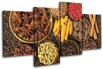 Spices Restaurant Food Kitchen TREBLE CANVAS WALL ART Picture Print VA
