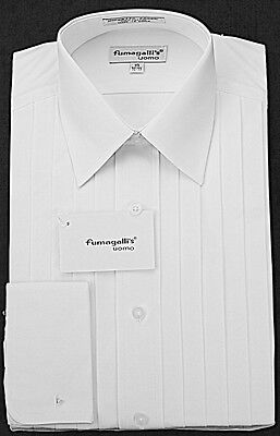 100% High Quality Cotton Lay-Down Collar Tuxedo Shirts.