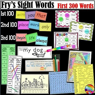 Educational TEACHING RESOURCE FRY'S READING SPELLING High Frequency Lists PDF