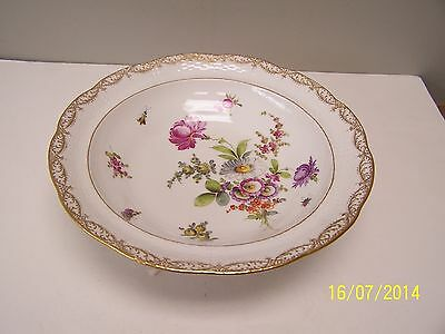 KPM Porcelain Large Footed Floral Bowl