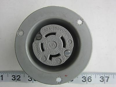 GE General Electric 20A 250V 3Ø Hubbell 2426 Style Flanged Receptacle L15-20R