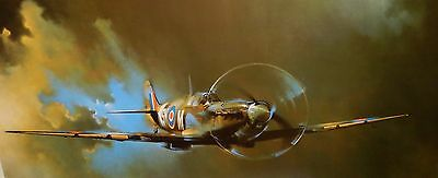 "Barrie A.f.clark ""vickers Supermarine Spitfire"" Huge Color Lithograph"