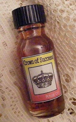 CROWN OF SUCCESS RITUAL OIL - Wicca, Santeria, Voodoo, Gothic