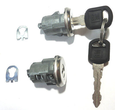 2 NEW Chevy Astro GMC Safari OEM Single Door Key Lock Cylinder W/2 GM LOGO KEYS