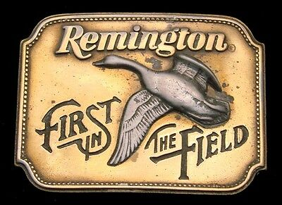 Lk06177 Great Vintage 1980 **remington** First In The Field Canada Goose Buckle