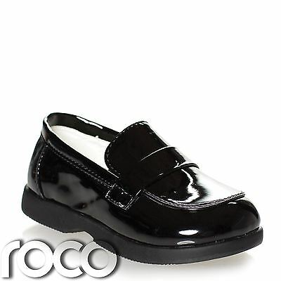 Boys Patent Black Loafer Shoes, Boys Formal Shoes, Baby Shoes, Page Boy Shoes