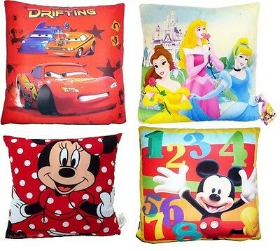 Childrens Disney Cushion / Pillow ~ Cars, Mickey Mouse, Minnie, Disney Princess