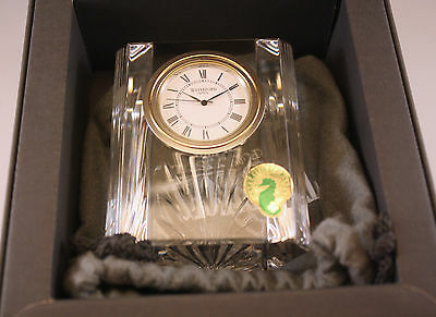 NIB WATERFORD CRYSTAL IRELAND  COLONNADE DESK OR MANTEL CLOCK