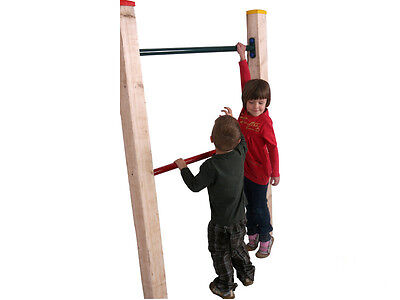 GYMNASTIC BAR 90/125CM for CLIMBING FRAME PLAY  RED GREEN  NEW!
