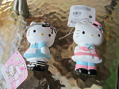 2 pc lot Hello Kitty ornaments jUST SO CUTE!  VERY STRONG AND DURABLE!