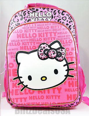"NEW 16"" Hello Kitty PINK ""3D Pop-Out Design"" Backpack Girls School Bag USA"