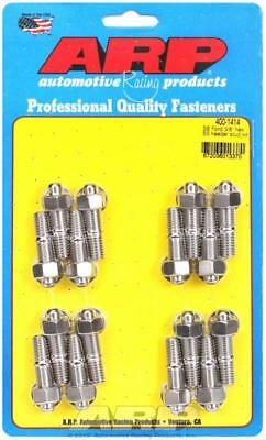 """ARP Header Studs Hex Nuts Stainless Steel Polished 3/8""""-16 Ford V8 Set of 16"""