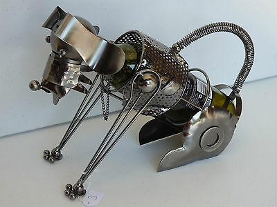 novelty gift metal wine rack wine bottle holder dog man cave bar accessories