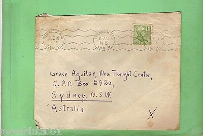#d128. 1950  Used Envelope  Stockholm  To Sydney