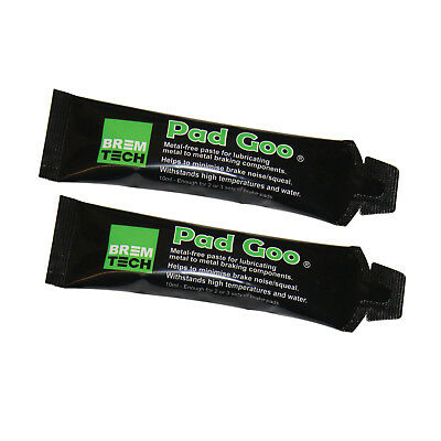 2 Bremtech Pad Goo Anti Squeal Brake Lubricant (Not Copper Grease) Pg10X2