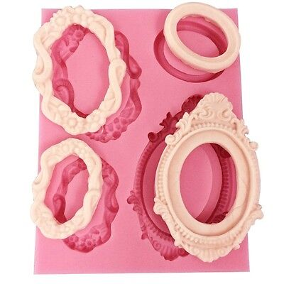 Retro Frame silicone mold for fimo resin polymer clay fondant cake chocolate 221