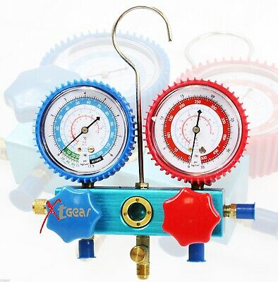 "2-1/2"" R12 R22 R134A Diagnostic Testing Charging Manifold High/Low Gauge"