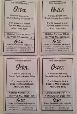 Oster Clipper Carbon Brush and Spring Assy 917-17 for A5, Classic 76  (4 packs!)