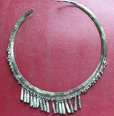 Authentic Ancient Lake Ladoga VIKING Artifact > Rare Bronze Necklace  E26