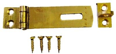Hasp and Staple Small Brass Cabinate Lock Latch Furniture Catch 38mm Fittings