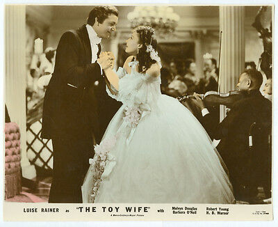 LUISE RAINER, ROBERT YOUNG original color movie photo 1938 THE TOY WIFE
