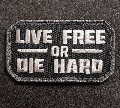 LIVE FREE OR DIE HARD TACTICAL ARMY MORALE USA MILITARY BADGE SWAT VELCRO PATCH