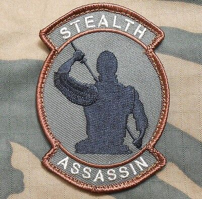 Stealth Assassin Usa Army Morale Badge Forest Velcro® Brand Fastener Patch