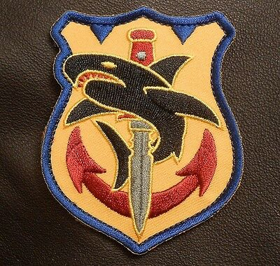 TAC SHARK TACTICAL USA ARMY MORALE MILITARY COMBAT ISAF BADGE COLOR VELCRO PATCH