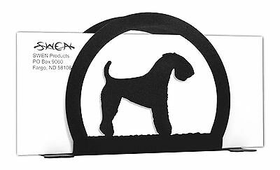 Kerry Blue Terrier Dog Black Metal Napkin or Letter Holder *NEW*