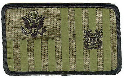 Coast Guard ensign subdued jungle woodland green W4844 USCG Coast Guard patch