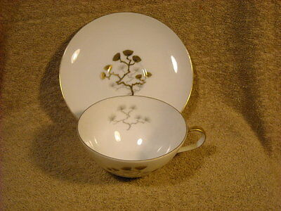 """Amcrest Meito """"Golden Ming"""" Cup (s) & Saucer (s)"""