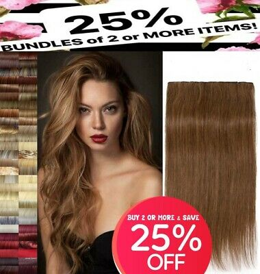 """24"""" clip in hair extensions black ginger plum red blonde brown like human hair"""