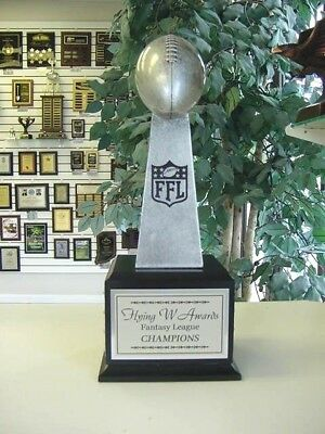 Small Lombardi Replica Style Fantasy Football Perpetual Trophy 16 Years