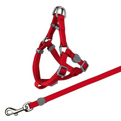 Trixie Nylon Cat Harness And Lead Set Red Brown Purple Black 41891