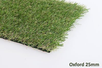 Oxford 25mm Astro Artificial Garden Grass Realistic Natural Fake Turf & Lawn