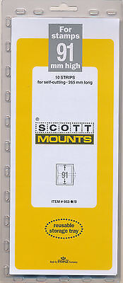 Prinz Scott Stamp Mount 91/265 BLACK Background Pack of 10