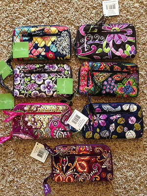 MSRP $39 Authentic Vera Bradley Zip-Around Wallet Your Choice of Retired Patter