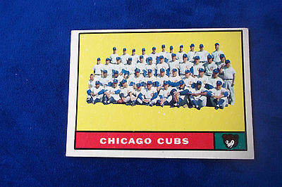 1961 TOPPS CHICAGO CUBS TEAM CARD